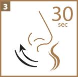 Oler la tira olfativa durante 30 segundos
