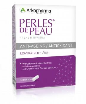 Perles De Peau Resveratrol Anti Ageing Antioxidant Arkopharma
